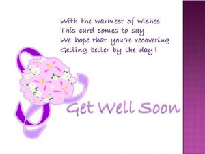 Get Well Wish For Your Dear One.
