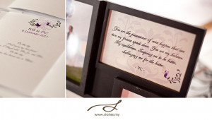 ... ' photos are displayed during a wedding. It's just so personal