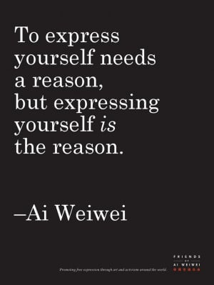 Ai Weiwei: Limited Edition: Quote Poster From Book: