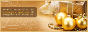 Best Christmas Quote Facebook Cover