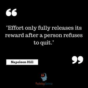Effort only fully releases its reward after a person refuses to quit