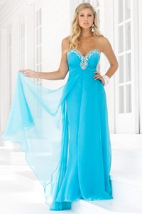 2013 Blue Sweetheart Sheathy Beads Working Wholesale Prom Gown ...