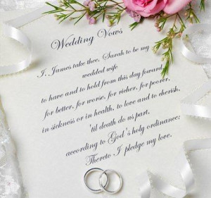 wedding vows some couples choose to include their actual wedding