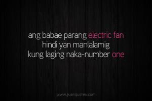 electric fan ang babae parang electric fan hindi yan manlalamig kung ...