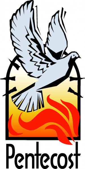 Pentecost symbols and Clip art photo