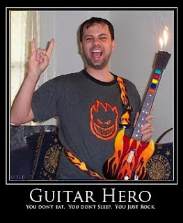 funny guitar player