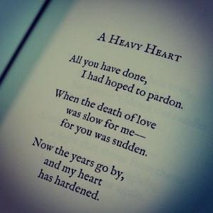 ... Lang Leaves, Beautiful Words, Misadventures, Leaves Poems, Heavy Heart