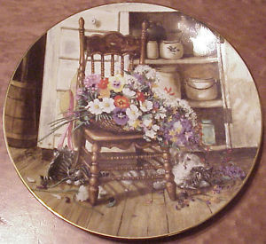Country Flower Cuttings 8 1 2 1990 W L George Collector Plate E 613