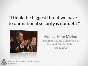Debt - Admiral Mike Mullen Quote