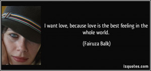 Love Quotes Best Feeling in the World