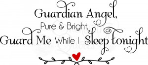 Guardian Angels Quotes Sayings Nursery wall quotes