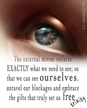 The external mirror reflects exactly what we need to see; so that we ...
