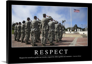 Respect: Inspirational Quote and Motivational Poster Wall Art