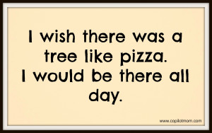 ... pizza. In his little dino-centric mind, I am pretty sure that he was