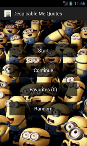 View bigger - Despicable Me Quotes for Android screenshot
