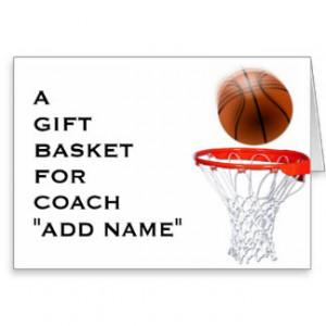 Basketball Coach Thank You...