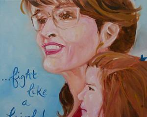 Governor Sarah Palin Quote Original Republican American Folk Art Oil ...
