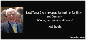 Lead Tenor Stormtrooper: Springtime, for Hitler, and Germany Winter ...