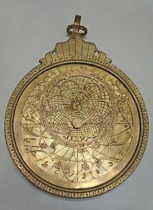 modern Persian astrolabe, made in Tabriz in 1991.