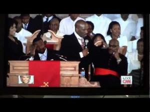 ... about Whitney Houston before performing a song at Whitney's funeral