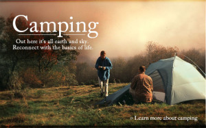 Camping Out Here It's All Earth And Sky Reconnect With The Basic Of ...