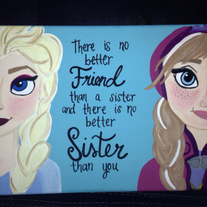 Frozen sister decor by craftsbydaniellelee on Etsy, $45.00 is creative ...