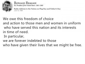 Think That These Best President Ronald Reagan Memorial Day Quotes