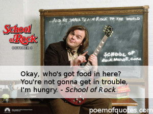 Funny School of Rock Quotes