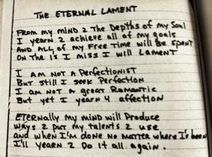 The Eternal Lament (Poem)