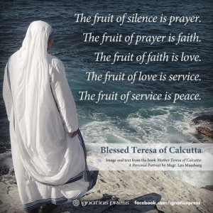 ... Mother Teresa Quotes, Peace, Mothers Theresa, Catholic Faith, Saint