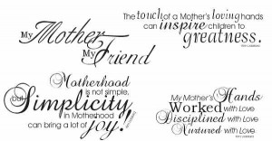 ... Mothers Loving Hands Can Inspire Children To Greatness - Mother Quote