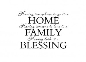 Family Vinyl Wall Decal Wall Quote Saying for Living Room Family Room ...
