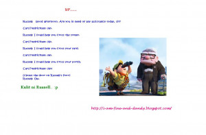 Up Movie Quotes Russell Pixar movie: up