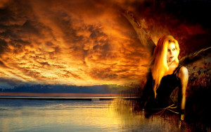 blonde lake Inner turmoil.... Abstract 3D and CG HD Wallpaper
