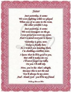 Poems For Sisters For Mothers Day – Family Friend Poems Popular ...