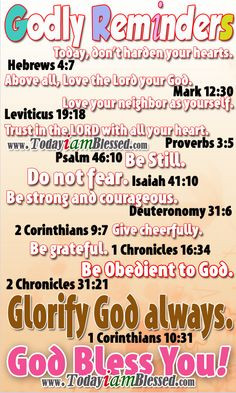 Bible Verses ♥ Deuteronomy 31:6 NIV ♥ Be strong and courageous. Do ...