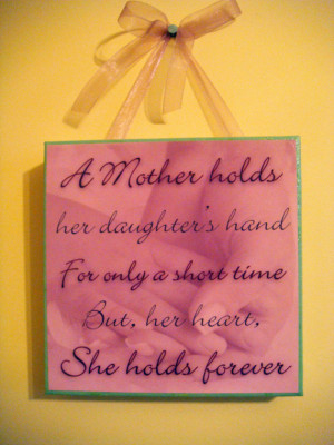 Mother And Daughter Holding Hands Quotes Canvas art with mother