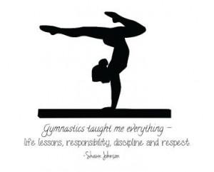 Shawn Johnson Quote Wall Decal | Gymnastic Vinyl Sticker 22