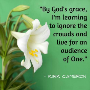 By God's grace, I'm learning to ignore the crowds and live for an ...