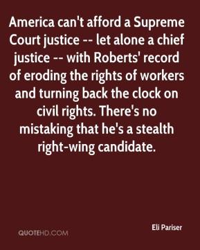 Eli Pariser - America can't afford a Supreme Court justice -- let ...