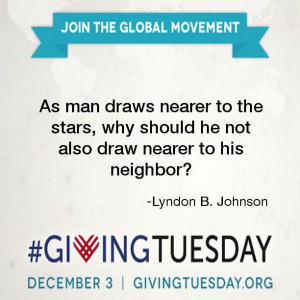 Lyndon B. Johnson #quote #giving #service #GivingTuesday