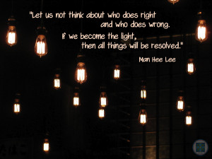 Man Hee Lee Quotes] Becoming the Light - Shincheonji