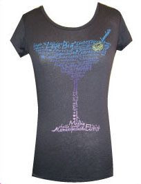 Sex and the City Martini Glass Quotes Black Juniors T-Shirt
