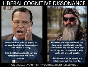 Liberal cognitive dissonance – Louis Farrakhan Vs. Phil Robertson