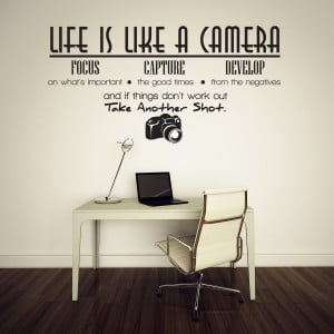 Life-is-like-a-camera-Vinyl-Wall-Lettering-Quotes-Sayings-Decor-Art ...