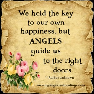 ... but angels guide us to the right doors author unknown more angel