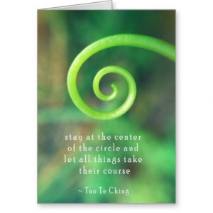 Taoism Inspirational Quote Greeting Card