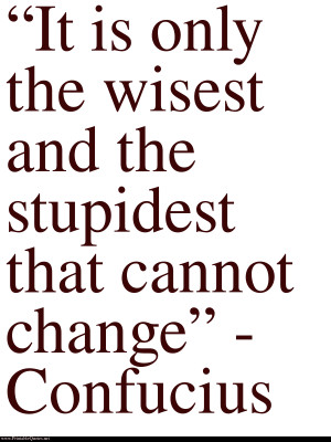 Confucius on change