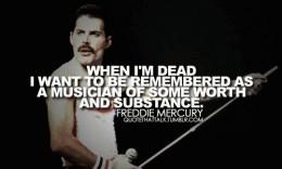 Freddie Mercury on his music.