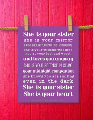 Quotes For Teenagers Room Sister gift teen room decor